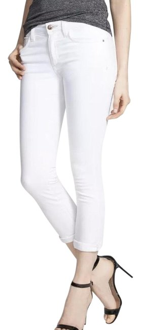 Item - White Cuff Crop Flawless Skinny Jeans Size 6 (S, 28)