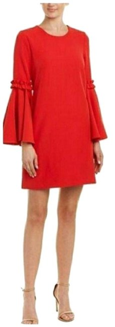 Item - Red Cassie Stretch Shift Short Casual Dress Size 8 (M)