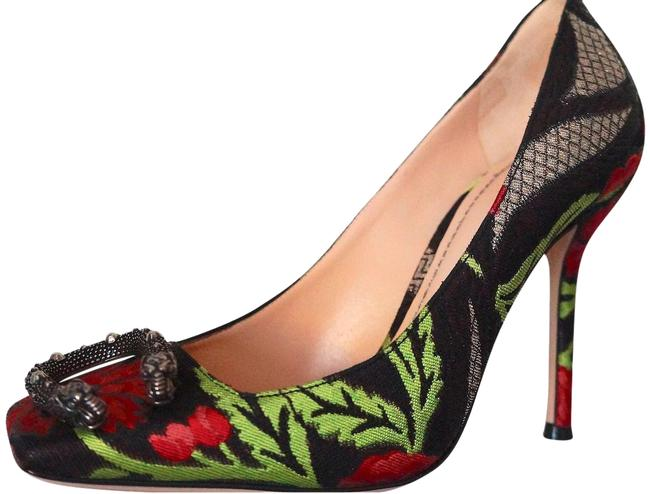 Item - Multi New Dionysus Box Women's Toe Brocade Pumps Size EU 37 (Approx. US 7) Regular (M, B)