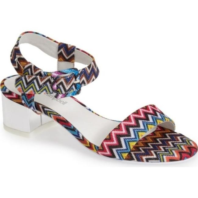 Item - Pink Silver 'dody' Woven Ankle Strap Sandals Size US 5.5 Regular (M, B)