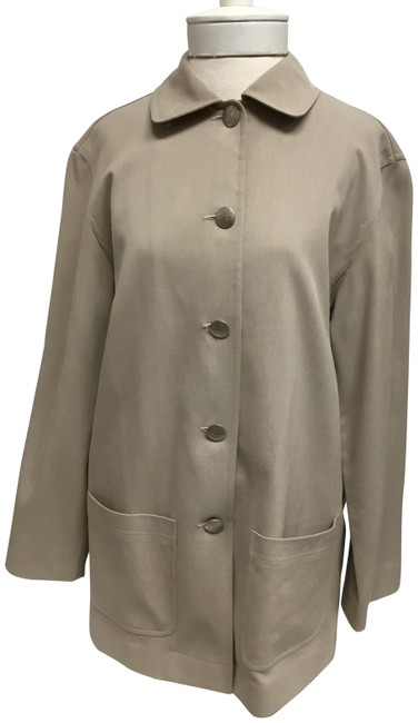 Item - Beige A Line Trench Style with Signature Buttons Jacket Size 4 (S)