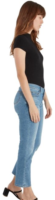 Item - Blue Medium Wash The Scooped Ruby Crop Capri/Cropped Jeans Size 26 (2, XS)
