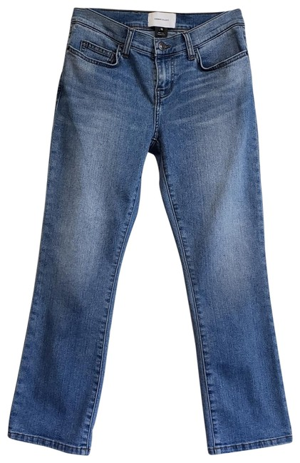 Current/Elliott Blue Medium Wash The Scooped Ruby Crop Capri/Cropped Jeans Size 26 (2, XS) Current/Elliott Blue Medium Wash The Scooped Ruby Crop Capri/Cropped Jeans Size 26 (2, XS) Image 2