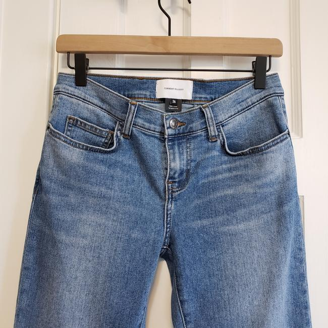 Current/Elliott Blue Medium Wash The Scooped Ruby Crop Capri/Cropped Jeans Size 26 (2, XS) Current/Elliott Blue Medium Wash The Scooped Ruby Crop Capri/Cropped Jeans Size 26 (2, XS) Image 8