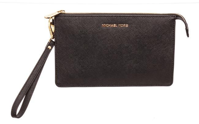Michael Kors Small Black Leather Wristlet Michael Kors Small Black Leather Wristlet Image 1
