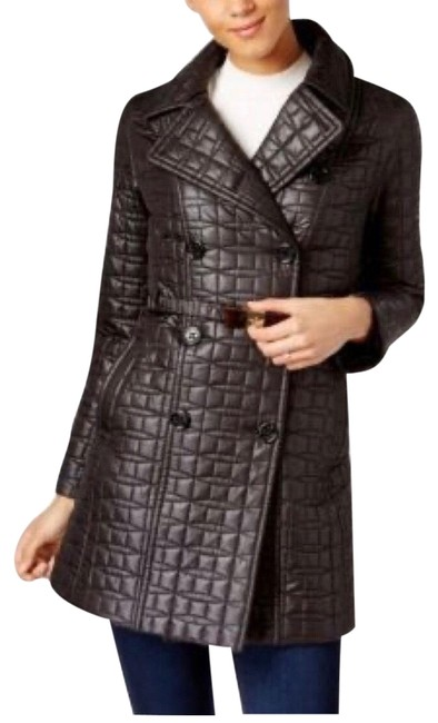 Item - Black Bow Belt Quilted Jacket Coat Size 2 (XS)