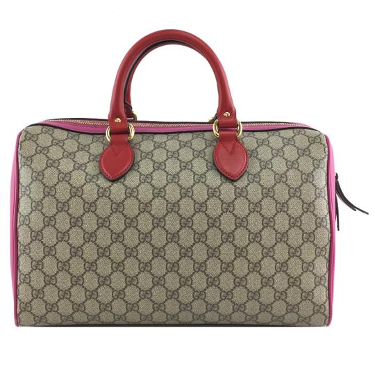 Preload https://img-static.tradesy.com/item/28073701/gucci-boston-39614-top-handle-handbag-gg-logo-guccissima-beige-pink-canvas-and-leather-shoulder-bag-0-0-540-540.jpg