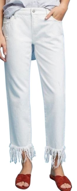Item - White Anthro Pilcro Hyphen Mid Rise Straight Fit Skinny Jeans Size 25 (2, XS)