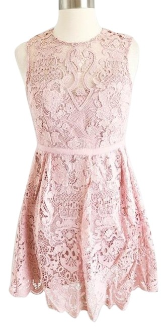 Anthropologie Pink Bhldn Rosaline Lace Short Cocktail Dress Size 2 (XS) Anthropologie Pink Bhldn Rosaline Lace Short Cocktail Dress Size 2 (XS) Image 1