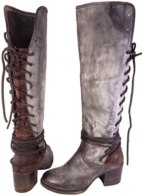 Item - Black Coal Woman Distressed Leather Boots/Booties Size US 6 Regular (M, B)