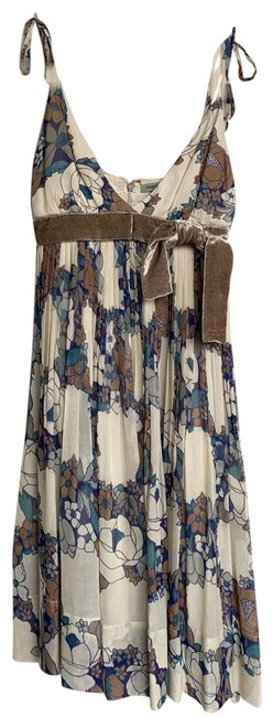 Item - Tan/Blue Na Mid-length Night Out Dress Size 2 (XS)