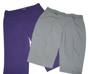 Cato Capris Gray and purple