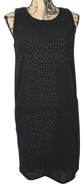 Item - Black Three Hole Lace Shift Short Casual Dress Size 8 (M)