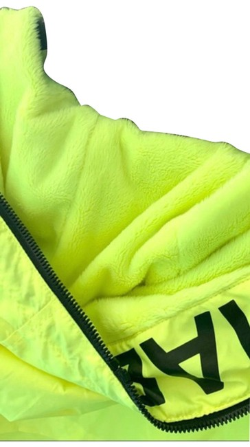 MICHAEL Michael Kors Neon Yellow Hooded Logo Plush Lined Zip Activewear Outerwear Size 4 (S) MICHAEL Michael Kors Neon Yellow Hooded Logo Plush Lined Zip Activewear Outerwear Size 4 (S) Image 1