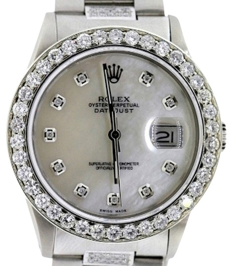 Rolex Rolex Datejust Stainless Steel Custom Set Diamond Watch
