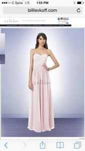 Bill Levkoff Petal Pink Chiffon Style 778 Destination Bridesmaid/Mob Dress Size 8 (M)