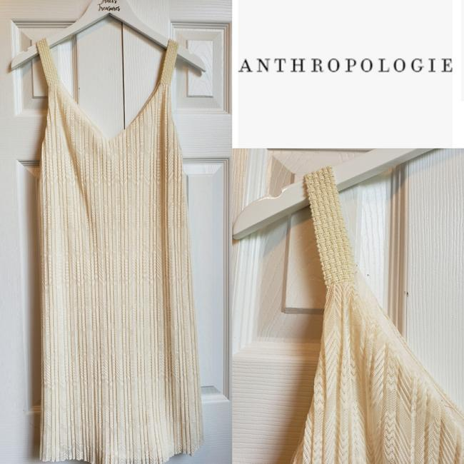 Item - Cream Pleated Mid-length Night Out Dress Size 6 (S)