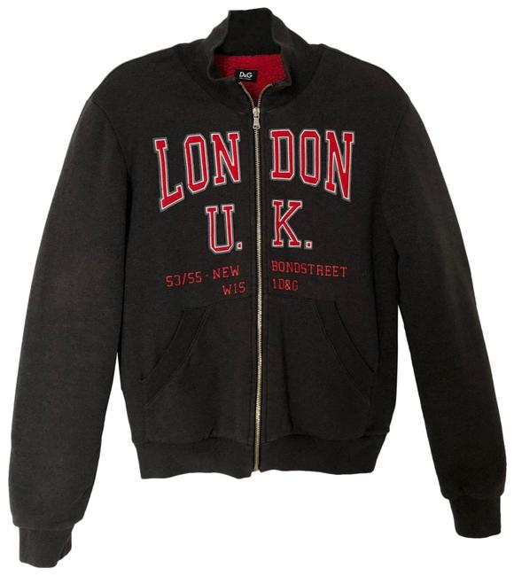 Item - Gray & Red Bomber Jacket Size 6 (S)