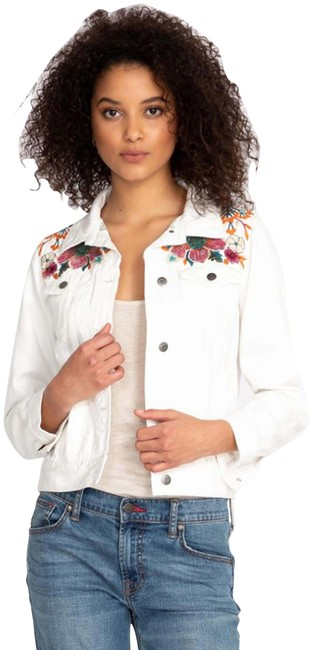 Item - Multi-color Nena Floral Embroidered Trucker Style No. W44119-1 Jacket Size 10 (M)