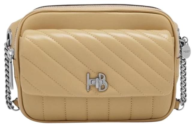 Item - Quilted Belted/Crossbody Beige Lambskin Leather Cross Body Bag