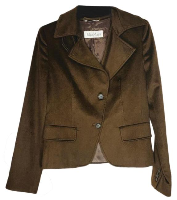 Item - Brown Tan Camel Hair Made In Italy Blazer Size 4 (S)