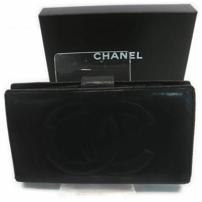 Item - Black Long Box Leather with #7870c92 Wallet