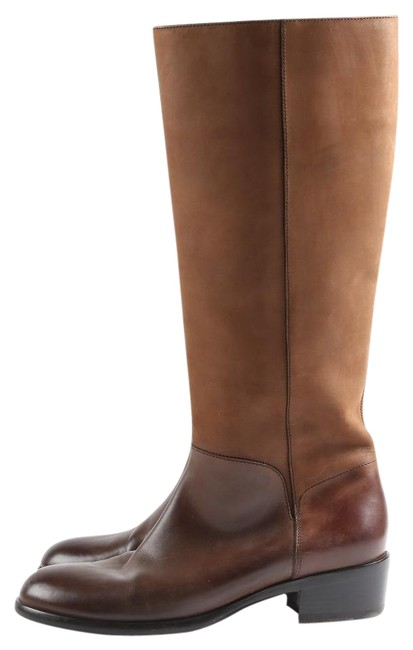 Item - Brown Leather Knee High Riding Boots/Booties Size US 5.5 Wide (C, D)