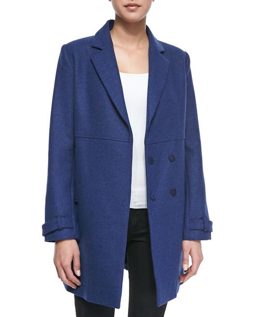 Item - Cobalt Blue Liselle Double-breasted Wool Coat Size 0 (XS)