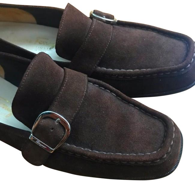 Item - Dark Brown Women's Suede Loafers 7 1/2 72467 Flats Size US 7.5 Wide (C, D)