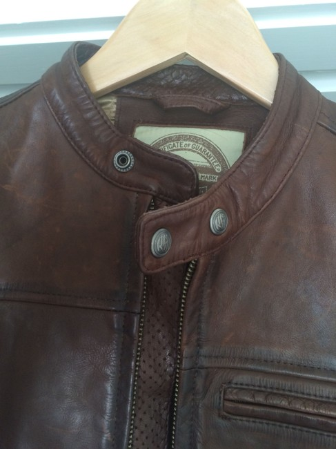 Roland Sands Biker Classic Brown Motorcycle Jacket