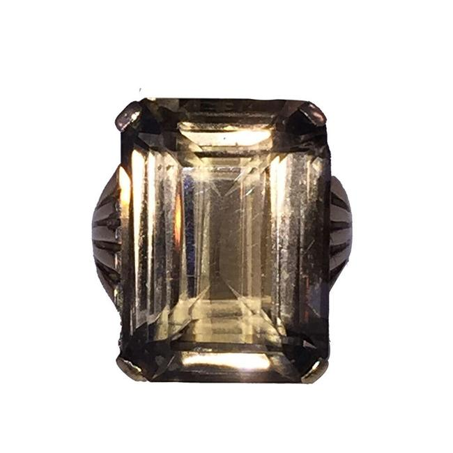 Item - Brown and Gold Vintage 14 Kt Yellow Smoky Topaz Quartz Ring