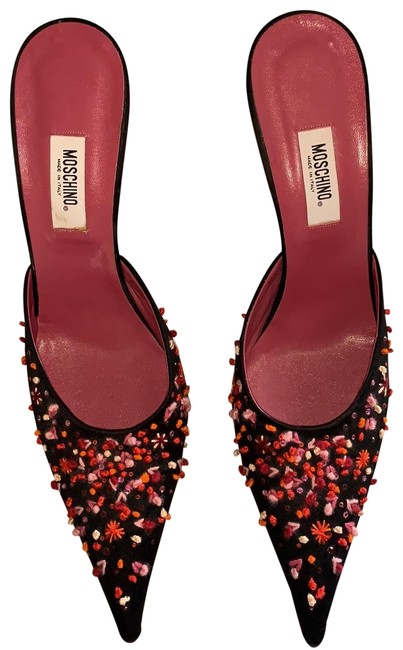 Moschino Multi Colored Beaded Mules/Slides Size US 10.5 Regular (M, B) Moschino Multi Colored Beaded Mules/Slides Size US 10.5 Regular (M, B) Image 1