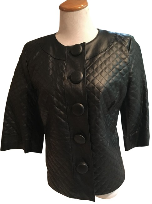 Item - Black Quilted Jacket Size Petite 2 (XS)