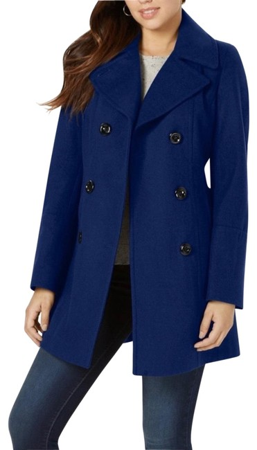 Item - Blue XL Double-breasted Button Coat Size 16 (XL, Plus 0x)