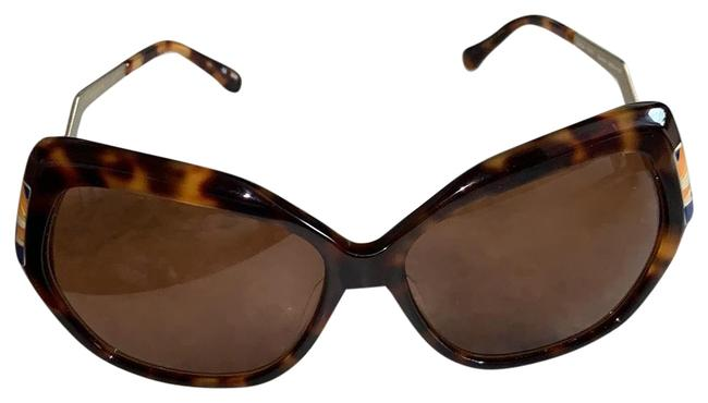 Item - Brown Yellow Gold and Blue Sunglasses