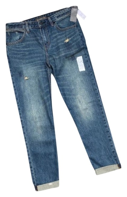 Abercrombie & Fitch Blue Medium Wash Ankle Straight Leg Jeans Size 26 (2, XS) Abercrombie & Fitch Blue Medium Wash Ankle Straight Leg Jeans Size 26 (2, XS) Image 1