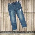Abercrombie & Fitch Blue Medium Wash Ankle Straight Leg Jeans Size 26 (2, XS) Abercrombie & Fitch Blue Medium Wash Ankle Straight Leg Jeans Size 26 (2, XS) Image 2