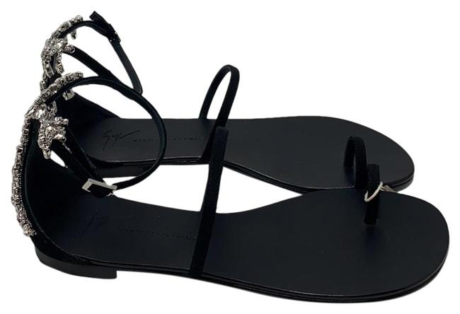 Item - Black Silver New Sandals Size EU 36.5 (Approx. US 6.5) Regular (M, B)
