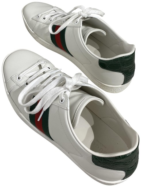 Gucci White Ace Low-top Sneakers Flats Size EU 38.5 (Approx. US 8.5) Regular (M, B) Gucci White Ace Low-top Sneakers Flats Size EU 38.5 (Approx. US 8.5) Regular (M, B) Image 1