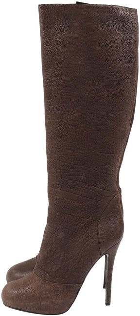 Item - Brown Distressed Leather Stiletto Knee High Boots/Booties Size US 8 Regular (M, B)