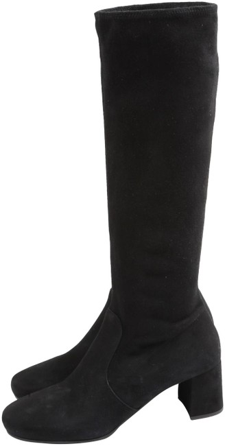 Item - Black Suede Knee High Riding Boots/Booties Size US 9.5 Regular (M, B)