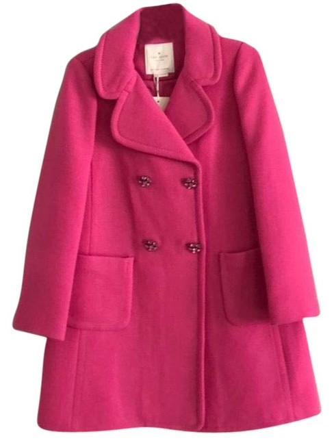 Item - Pink Jeweled Button Car Coat Size 4 (S)