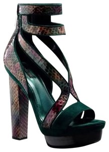 Rachel Zoe Multi Color Green Platforms