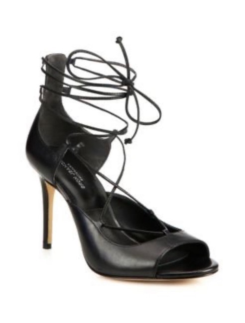 Item - Black New Valerie Leather Lace Up Heels Si Sandals Size EU 40 (Approx. US 10) Regular (M, B)
