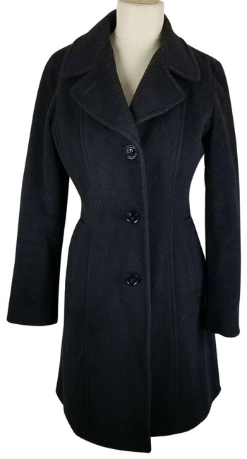 Item - Black Wool Cashmere Womens Fitted Tailored Coat Size 8 (M)