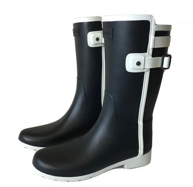 Item - Dark Navy White Slim Fit Contrast Rain Boots/Booties Size US 7 Regular (M, B)