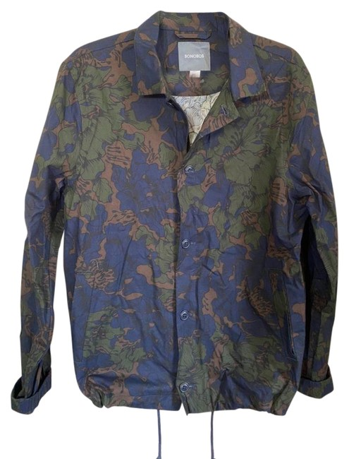 Item - Blue & Green New Men's Light Medium Msrp 150 Jacket Size 10 (M)