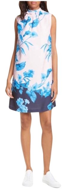 Item - Blue Pink Juniaa Fantasia Tunic New Mid-length Cocktail Dress Size 4 (S)
