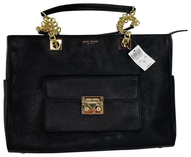 Henri Bendel Waldorf Tote Black Leather Backpack Henri Bendel Waldorf Tote Black Leather Backpack Image 1