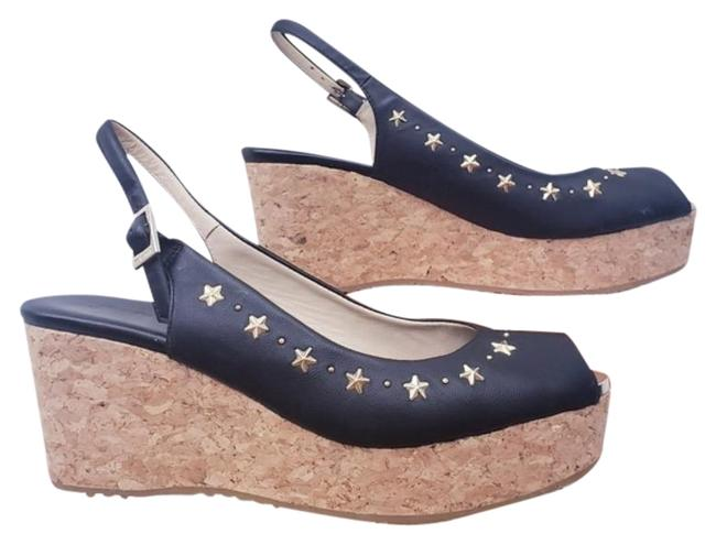 Item - Black Star Studded Wedges Size EU 38.5 (Approx. US 8.5) Regular (M, B)